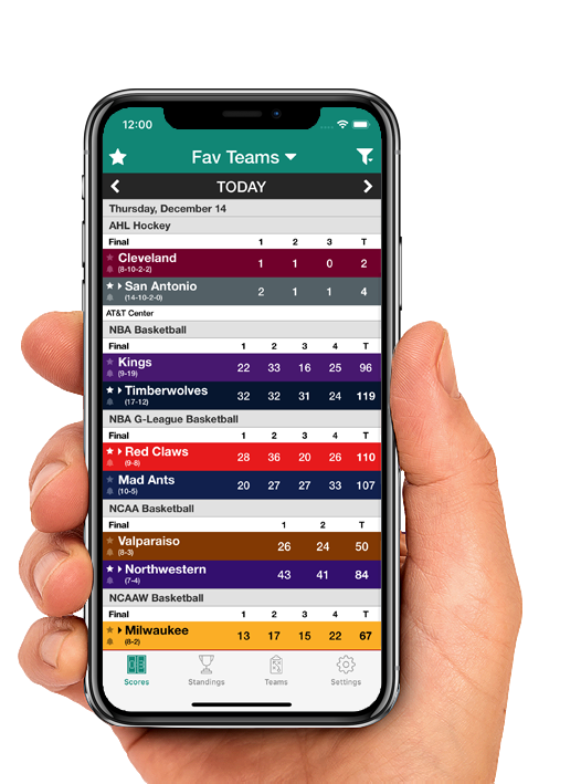 Sports Scores main screenshot