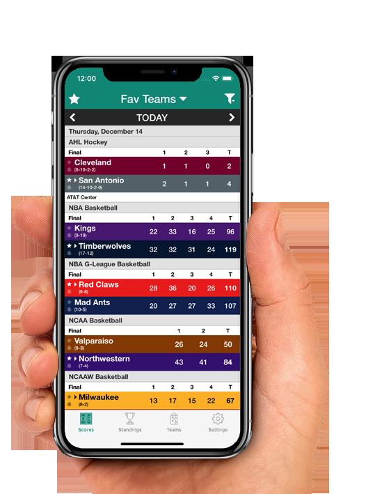 Sports Scores main screenshot